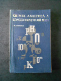 I. M. KORENMAN - CHIMIA ANALITICA A CONCENTRATIILOR MICI