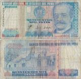 1988 ( 21 XII ) , 500,000 intis ( P-146 A ) - Peru