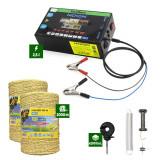 Pachet Gard Electric 2,5J putere + 2000m Fir cu 3 lițe