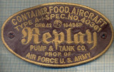 "Y 1619 EMBLEMA-AVIATIE - ,,REPLAY"" -AIR FORCE U.S. ARMY -PENTRU COLECTIONARI"