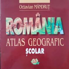 ROMANIA ATLAS GEOGRAFIC SCOLAR - Octavian Mandrut