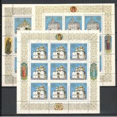 Rusia.1992 Biserici din Kremlin-coli mici  SR.22