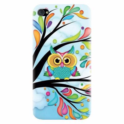 Husa silicon pentru Apple Iphone 4 / 4S, Owl 101 foto