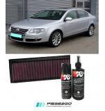Filtru aer sport+Kit curatare K&N VW Passat B6 2005|2006|2007-2011, Volkswagen, PASSAT (3C2) - [2005 - 2010]