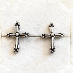 CERCEI ARGINT- MODEL  PE URECHE - Cruce, Cruciulita