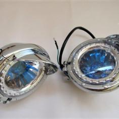 Proiectoare moto  tema albastra 125 mm