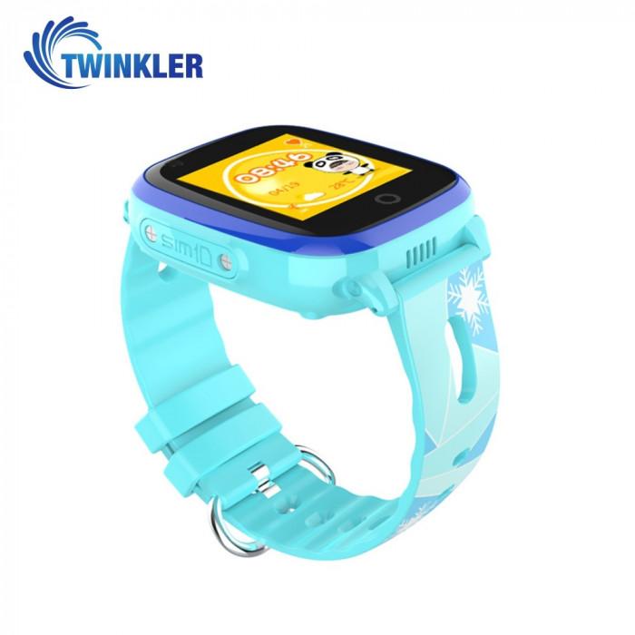 Ceas Smartwatch Pentru Copii Twinkler TKY-DF33 cu Functie Telefon, Apel video, Localizare GPS, Camera, Lanterna, SOS, Android, 4G, IP54, Joc Matematic