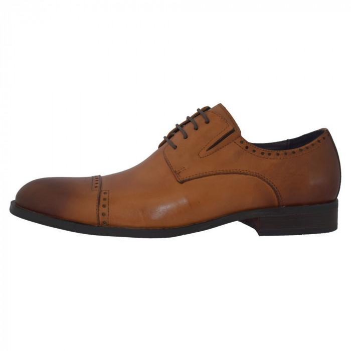 Pantofi eleganti barbati, din piele naturala, marca Alberto Clarinii, A053-55C-16-113, coniac 44
