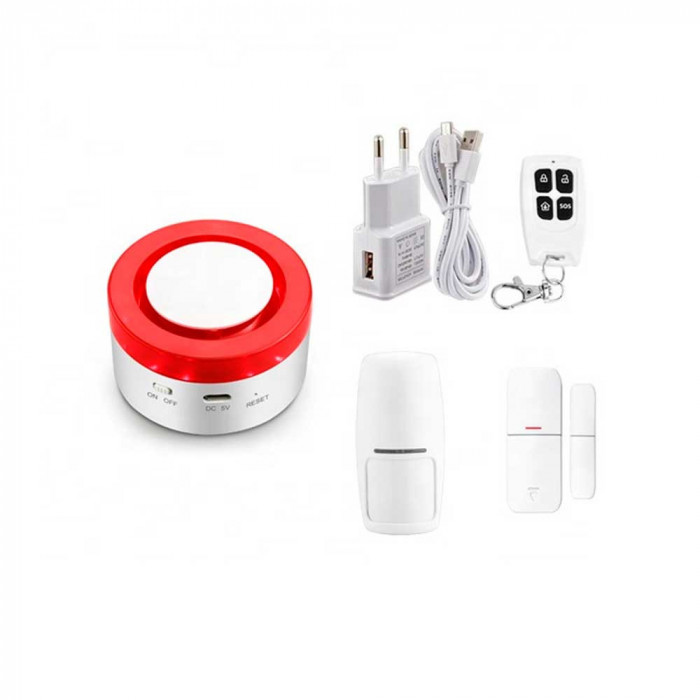 Aproape nou: Sistem de alarma wireless inteligent PNI SafeHome PT610 WiFi, alerte p