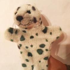 Marioneta pui de foca, papusa de mana, teatru de papusi copii