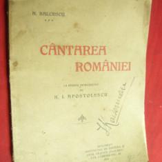 N.Balcescu -Cantarea Romaniei - Ed.Flacara 1914 cu studiu N.I.Apostolescu ,55pag