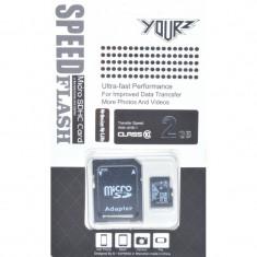 Memorie Card Micro SDHC + SD 2GB (Class 10) UHS-I