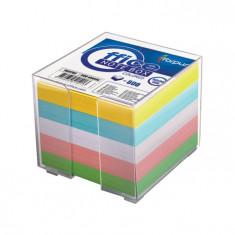 Cub notite color cu suport Forpus 41702 800 file 9x9 cm