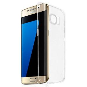 Folie Sticla Full Screen +Husa Silicon Transparenta Samsung Galaxy S7 Edge