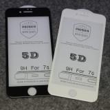 STICLA SECURIZATA 5D FULL SCREEN IPHONE 7Plus / 8Plus, BLACK