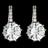 Cercei placati cu Aur 18K si Diamante, Sofia Platinum