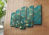 Tablou decorativ canvas (5 Piese) Horizon, 237HRZ4249, Multicolor