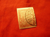 Timbru Franta- Emisiunea Colonii Generale 1893 -30C rosu Taxe nedantelat stampil, Stampilat