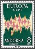 ANDORRA SPANIOLA 1972 - EUROPA CEPT - UNC, Nestampilat