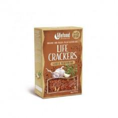 Life Crackers cu usturoi si maghiran raw bio 90g