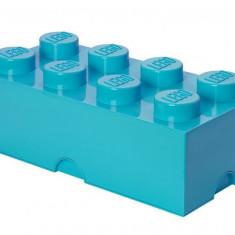 Cutie depozitare LEGO 2x4 - Albastru turcoaz
