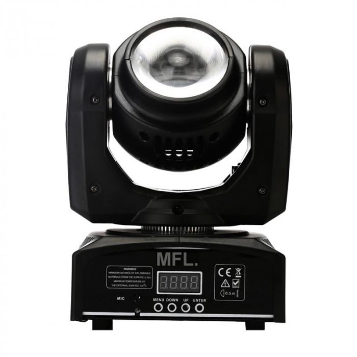 Proiector lumini Beam Moving Head Light, 40 W, LCD, 4 butoane