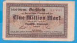 (1) BANCNOTA (GROSSNOTGELD) GERMANIA - MUNCHEN -1 MILLION MARK 1923, SERIE VERDE