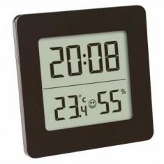 Higrometru si Termometru digital cu ceas si alarma Tfa