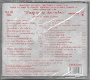 CD Madrigal, Marin Constantin–Noapte De Decembrie Cconcert De Colinde Și Poezii