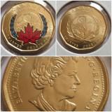 Set 2 monede 1 Dollar 2020 Canada, Natiunile Unite,unc, color & normal, America de Nord