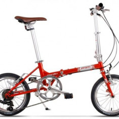 Bicicleta Pegas Teoretic 7S, Pliabila, 7 Viteze (Portocaliu)
