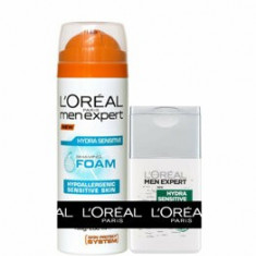 Pachet promotional L'Oreal Paris Men Expert Spuma de ras 200 ml + After Shave 125 ml