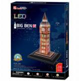 Cumpara ieftin Puzzle 3D Led - Big Ben, 28 piese, CubicFun