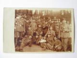 Fotografie carte poștală companie militară germană cu muzicieni 1915