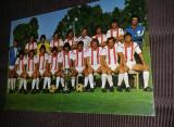 carte postala fotbal-HAPOEL,HAIFA HOLDS ISRAELI NATIONAL,CUP 1974,semnata,T.GRAT