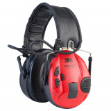 Cască de protecție auditivă electronică anti-zgomot SportTac negru-roșu, Peltor