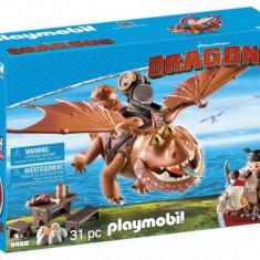 Playmobil Dragons - Fishlegs si Meatlug