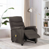 Fotoliu de masaj rabatabil, gri taupe, material textil, vidaXL