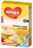 Cereale Milupa cu lapte si 3 fructe, 250g