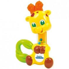 Jucarie zornaitoare din plastic moale pentru bebelusi in forma de girafa Clementoni foto