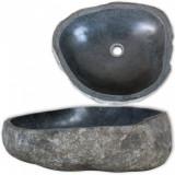 VidaXL Chiuvetă din piatră de râu, 38-45 cm, oval