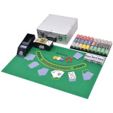 Set de poker/blackjack cu 600 de jetoane cu laser din aluminiu