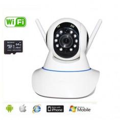 Camera  supraveghere IP  wi fi  HD (1280x720)  cu alarma night vision