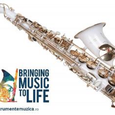 Saxofon ALTO Sax Karl Glaser curbat  ALB + AURIU NOU ALT Saxophone Germania