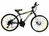 """Bicicleta MTB Vision Tiger 2D Suspensie Fata Culoare Negru/Galben Roata 26"""" OtelPB Cod:202604010309"""