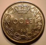 7.201 ROMANIA WWII MIHAI I 100 LEI 1943 EROARE