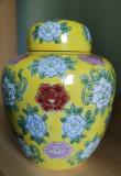 Doza pentru frunze de ceai, portelan vintage Japonia