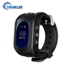Ceas Smartwatch Pentru Copii Twinkler TKY-Q50 cu Functie Telefon, Localizare GPS, Pedometru, SOS - Negru