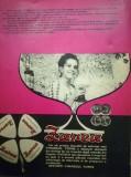 1972, Reclama Vin Spumant ZAREA, vinars coniac TOMIS comunism 27x20 cm BUCURESTI