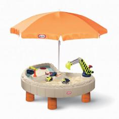 Masuta pentru copii pentru nisip si apa cu utilaje